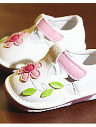Baby Shoes PU Spring Fall Comfort First Walkers Flats For Casual Pink White