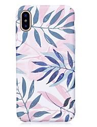 abordables -Coque Pour Apple iPhone X / iPhone 8 Phosphorescent / Relief / Motif Coque Arbre Dur PC pour iPhone X / iPhone 8 Plus / iPhone 8