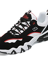 Women's Shoes PU Winter Fall Comfort Athletic Shoes Running Shoes Round Toe for Athletic Casual White Black Black/White Black/Red