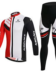 cheap -Men's Long Sleeves Cycling Jersey with Tights Bike Clothing Suits, Quick Dry