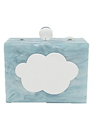 abordables -Mujer Bolsos Plástico Bolso de Hombro Detalles de Cristal para Boda Evento/Fiesta Todo el Año Azul Piscina Rosa