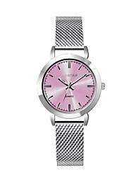 abordables -Mujer Reloj de Pulsera Reloj de Moda Cuarzo Gran venta Aleación Banda Elegant Plata Dorado Oro Rosa