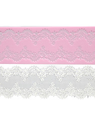 cheap -FOUR-C Cake Lace Mat Silicone Mold Cake Decorating Supplies,Silicone Mat Fondant Cake Tools Color Pink