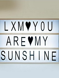 Romantic Gifts Lightbox DIY Cute Free Combination Cinematic Light Box With Black+Colorful Letters Set