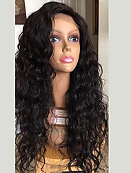 cheap -Human Hair Lace Front Wig Brazilian Hair Curly Wig With Baby Hair 130% 100% Virgin Women's Long Human Hair Lace Wig
