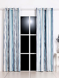 cheap -Rod Pocket Grommet Top Tab Top Double Pleat Curtain Formal Casual Modern, Jacquard Damask Floral Bedroom Polyester Blend Material