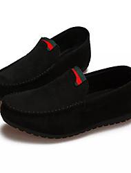 Homme Chaussures Daim Printemps Automne Confort Sabot & Mules pour Décontracté Noir Gris Marron