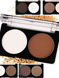 cheap -2 Powder Concealer/Contour Highlighters/Bronzers Pressed Powder Dry Matte Pressed powder Whitening Oil-control Natural Waterproof White