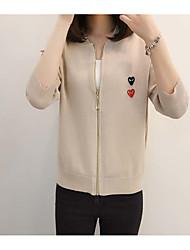 Standard Cardigan Da donna-Casual Semplice Lolita Rotonda Mezza manica Altro Autunno Medio spessore Anelastico