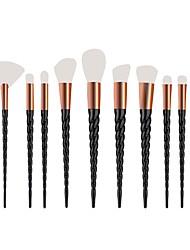 economico -10 pezzi Set di pennelli Capelli sintetici Coppa larga Plastica Viso