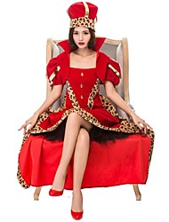 cheap -Queen of Hearts Cosplay Costume Women's Halloween Carnival Oktoberfest Festival / Holiday Halloween Costumes Red Color Block