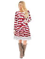 Reindeer One Piece Dress Christmas Dress Festival / Holiday Halloween Costumes Red