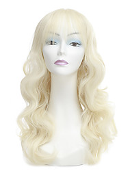 cheap -Synthetic Wig Wavy Blonde Women's Capless Natural Wigs Long Synthetic Hair