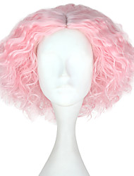 cheap -Synthetic Wig Kinky Curly Pink Men's Capless Carnival Wig Halloween Wig Party Wig Lolita Wig Natural Wigs Cosplay Wig Short Synthetic Hair