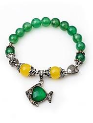 cheap -Women's Onyx Strand Bracelet - Animals Lovely Circle Green Bracelet For Evening Party Street