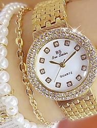 abordables -Femme Quartz Montre Bracelet Japonais Montre Décontractée Acier Inoxydable Bande Charme Argent / Doré / Or Rose