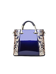 cheap -Women Bags Patent Leather Tote Zipper for Outdoor All Season Black Red Beige Wine Royal Blue