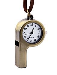 baratos -Mulheres Relógio de Bolso Chinês Quartzo Relógio Casual Couro Banda Casual Marrom