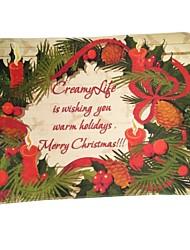 abordables -Décorations de Noël Articles pour Célébrer Noël Jouets Rectangle Lettre Vacances Vacances Costume de père noël père Noël Pièces
