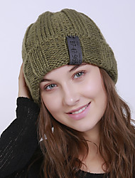 cheap -Women's Acrylic Roman Knit Floppy HatVintage Cute Casual Floral Winter Braided Light gray Khaki Wine Red Green
