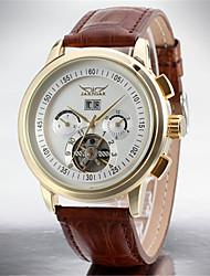 abordables -Hombre Reloj de Moda Reloj de Vestir Reloj de Pulsera Reloj Casual Cuerda Automática Calendario Acero Inoxidable Piel Banda Casual Cool