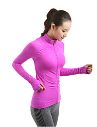 cheap -Women's Running Jacket Long Sleeves Quick Dry Windproof Breathable Soft Jacket Top for Yoga Pilates Exercise & Fitness Leisure Sports