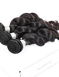 preiswerte -Peruanisches Haar Unbearbeitet Unbehandeltes Haar Lose gewellt Menschliches Haar Webarten 3 Stück
