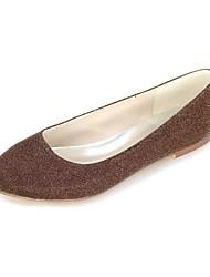 Недорогие -женская обувь блестящий блеск весна / лето балетки плоский каблук круглый носок серебристый / красный / синий / вечеринка& вечер