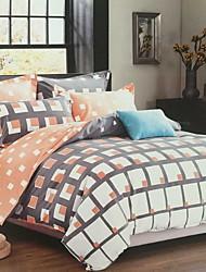 Moderne 4 Dele Polyester/Bomuld Trykt Polyester/Bomuld 1stk Dynebetræk 2stk Betræk 1stk Flad Lagen