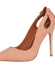preiswerte -Damen Schuhe Pelz Frühling Herbst Gladiator Pumps High Heels Stöckelabsatz Spitze Zehe für Kleid Party & Festivität Schwarz Grau Braun