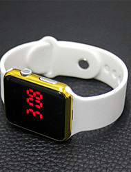 cheap -Women's Digital Watch Chinese LCD Rubber Band Casual / Fashion / Elegant Black / White