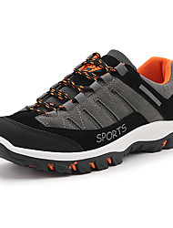 cheap -Men's Shoes PU Spring Fall Comfort Athletic Shoes Hiking Shoes Lace-up For Outdoor Black Beige Gray