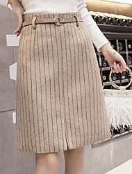 cheap -Women's Holiday Above Knee Skirts A Line Color Block Spring Winter
