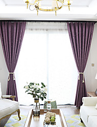 Grommet Top Double Pleat Pencil Pleat Curtain Modern , Printed Solid Living Room Linen Material Blackout Curtains Drapes Home Decoration