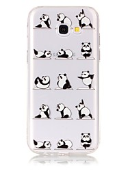 cheap -Case For Samsung Galaxy A5(2017) / A3(2017) Ultra-thin / Transparent / Embossed Back Cover Panda Soft TPU for A3(2017) / A5(2017)