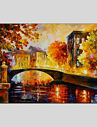 cheap -Hand-Painted Landscape Horizontal Panoramic,Modern One Panel Canvas Oil Painting For Home Decoration