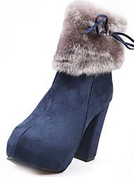 Dámské Boty Nappa Leather Zima Módní obuv Boty Kačenka Kulatý palec Pro Černá Modrá Velbloudí
