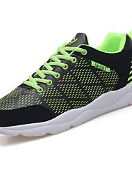 cheap -Men's Shoes Rubber Spring Fall Comfort Athletic Shoes Walking Shoes Booties/Ankle Boots Ribbon Tie For Outdoor Black/Green Black/White