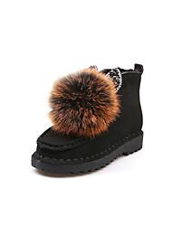 Women's Slippers & Flip-Flops Summer Peep Toe PU Casual Flat Heel  Black / Yellow / White / Gold
