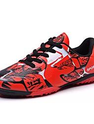 baratos -Homens sapatos Couro Ecológico Primavera Outono Conforto Tênis Futebol para Atlético Vermelho Verde Azul Rosa claro