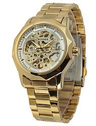 levne -WINNER Pánské Náramkové hodinky Módní hodinky Hodinky na běžné nošení Automatické natahování Hodinky na běžné nošení Nerez Kapela Na