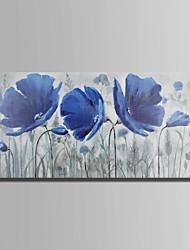 billige -Hang-Painted Oliemaleri Hånd malede - Blomstret / Botanisk Abstrakt Lærred