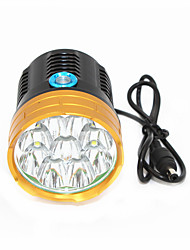 abordables -ANOWL 6268 Eclairage LED LED 9000lm 3 Mode d'Eclairage Transport Facile Cyclisme Or + Noir