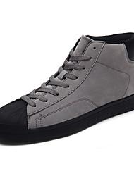 abordables -Homme Chaussures Polyuréthane Automne / Hiver Confort Basket Marron / Noir / Gris