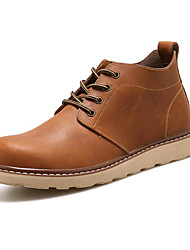 cheap -Men's Shoes PU Fall Winter Comfort Oxfords Booties/Ankle Boots Draped For Casual Outdoor Brown Coffee Black