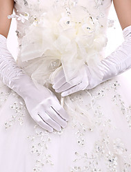 cheap -Spandex Fabric Opera Length Glove Classic Style / Bridal Gloves / Party / Evening Gloves With Ruffles