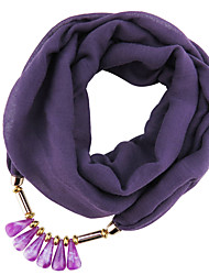cheap -Women's Polyester Infinity Scarf Solid All Seasons