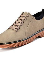 Men's Shoes PU Spring Fall Combat Boots Oxfords Booties/Ankle Boots For Casual Khaki Black