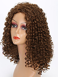 cheap -Synthetic Wig Curly Synthetic Hair African American Wig Brown Wig Women's Medium Length Cosplay Wig / Natural Wigs / Party Wig Capless