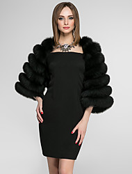 cheap -3/4 Length Sleeves Faux Fur Wedding Party / Evening Women's Wrap Coats / Jackets